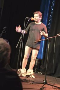 And here's Lawrence Mooney with his pants down